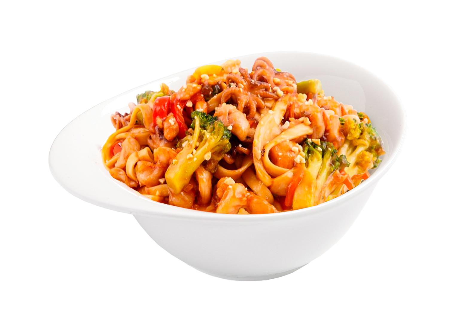 Wok с морепродуктами в соусе Терияки